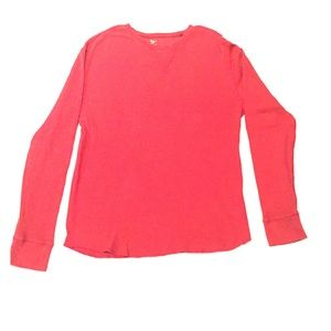 GAP Thermal Long Sleeve Tee - Red